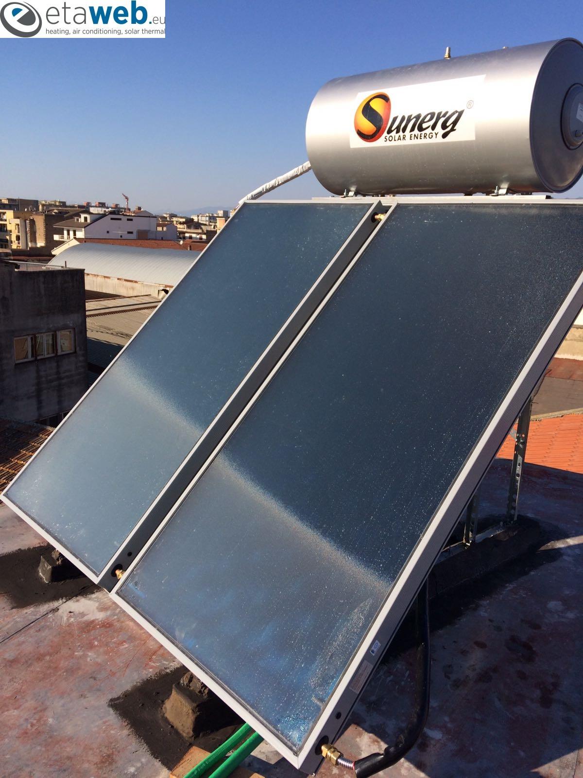 pannello solare circolazione naturale