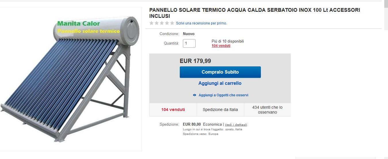 pannelli solari termici a circolazione naturale ebay amazon